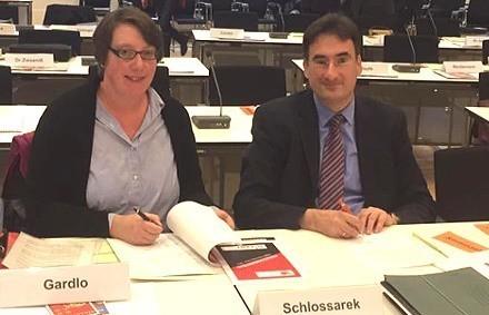 Silke Gardlo und Bernward Schlossarek