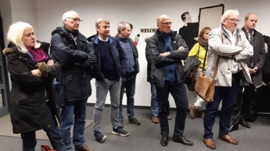 Gruppe von Besucherinnen und Besuchern beim JobBüro
