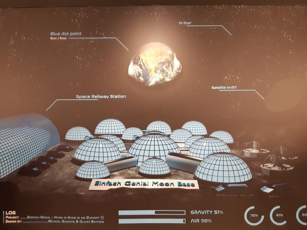 Das Modell einer Marsstation