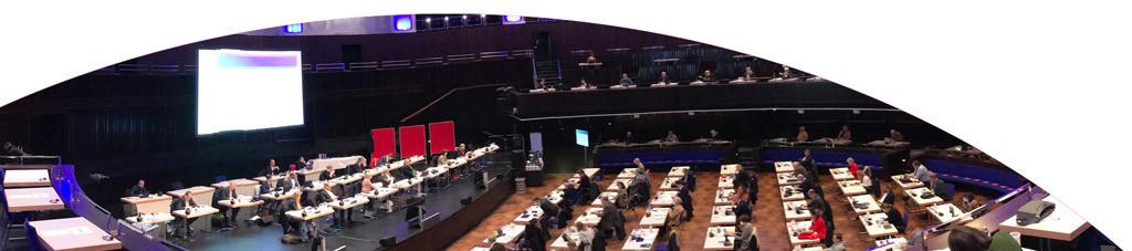 Blick auf die Regionsversammlung im HCC