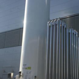 Der extra angefertigte 3000-Liter-Sauerstofftank