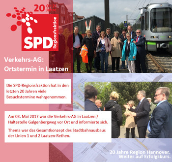 Besuch der AG-Verkehr in Laatzen