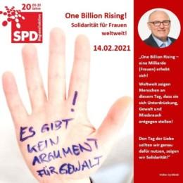 """SPD-Regionsfraktion unterstützt den Aktionstag """"OneBillionRising"""""""