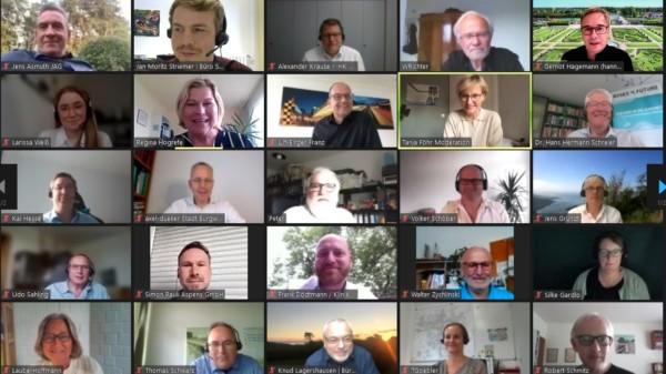 Screenshot vom Online Workshop der SPD-Regionsfraktion Hannover zum Thema:  Grüner Wasserstoff. Zukunftstechnologie und Wirtschaftsfaktor für die Region Hannover