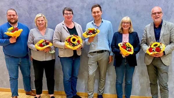 v.l. Frank Straßburger, Regina Hogrefe, Silke Gardlo, Brian Baatzsch, Petra Rudszuck und Werner Backeberg